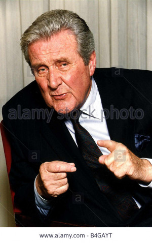 Stock Photo Patrick Macnee actor who starred in the TV Programme The