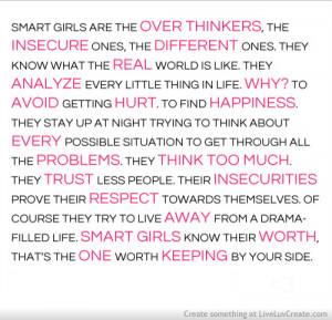 cute, girls, love, pretty, quote, quotes, smart girls