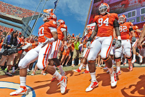 ... down the hill, traditions of Clemson University in South Carolina