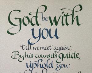 Goodbye Gift, Farewell, Custom Call igraphy, Christian Gift, Religious ...