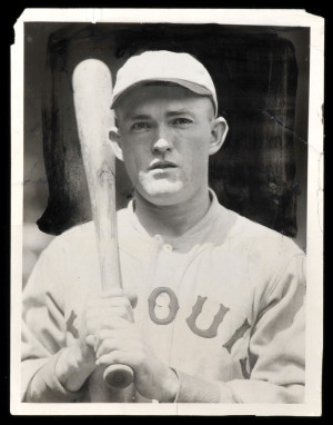 Rogers Hornsby Orignal News Service Photo Used to Make His Early