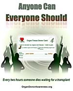 Organ Donor Awareness Poster
