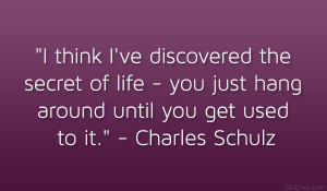 Charles Schulz Quote Uplifting Funny Quotes Live