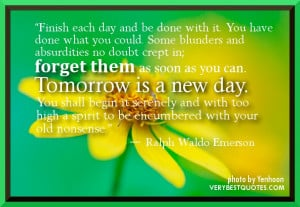 Quotes tomorrow is a new day