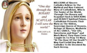 Praying the rosary never began until around 1214 A.D.