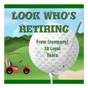 Golf Retirement Invitations TEMPLATE from Zazzle.com