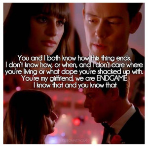 Glee Rachel And Finn Quotes Rachel and finn