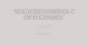 The time is right for electric cars - in fact the time is critical ...