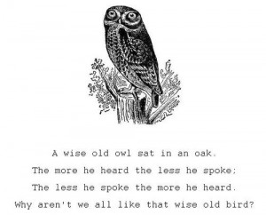 Owl Print Woodland Decor Quote Nursery Rhyme