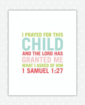 Nursery Bible Verse Art Girl, 8x10, Girl Nursery Decor, Nursery Art, 1 ...
