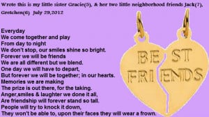 poems about best friends like sisters