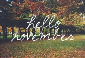 welcome november #november #autumn