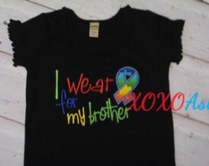 Autism Awareness--Brother Sister Shirt--Puzzle Pieces--Autism Shirt or ...