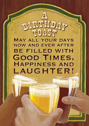 Beer Cheers Birthday illustrating this birthday