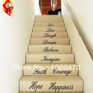 Courage-Quotes-Stair-Step-Basket-Removable-Stair-Wall-Decals-Sticker ...