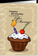 ... Cupcake - Birthday card for Office Manager card - Product #751259