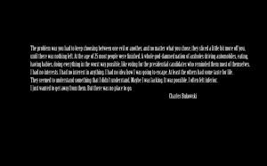 Text Quotes Charles Bukowski /