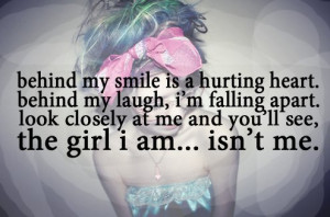 broken, fake, falling apart, girl, quote, teen, teenager, text