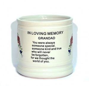 Memorial Vase for a Grandad
