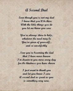 step dads more second dads step dads quotes gift for stepdad poems for ...