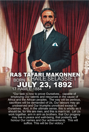 Haile Selassie, Ras Tafari and Christianity...