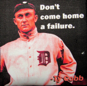 TY COBB QUOTE - Success - Printed Patch - Sew On - Vest, Bag, Backpack ...