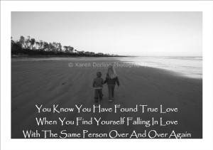 ... true love when you find yourself falling in love with the same person