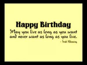 irish blessing birthday quotes wishes