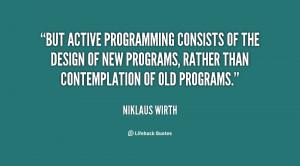 Active Programming