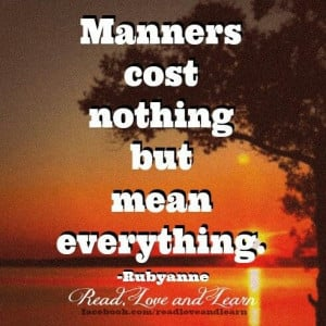 Manners Quote