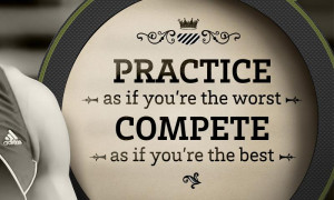 You have to compete with yourself first before any competition can ...