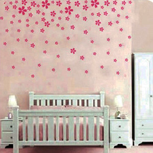 Wall Decals Quotes for Nursery Ideas - Pink Flower Wall Sticker Decal ...