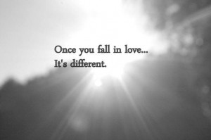 Once you fall in love