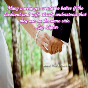 Many marriages would be better if the husband and wife clearly ...