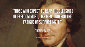 American Freedom Quotes Paine Quotes About Freedom