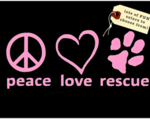 Dog Rescue Decal - Adopt a Dog Viny l Decal - Dog Lover Window Sticker ...