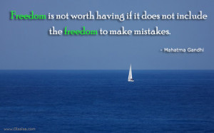 Mistakes Thoughts-Quotes-Mahatma Gandhi-Freedom-Best Quotes-Nice