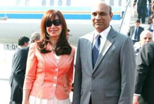 Pallam Raju With Dr Cristina Fernandez