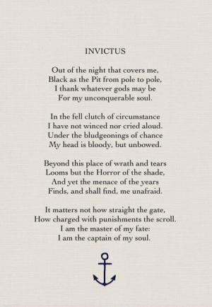 Invictus by William Ernest Henley