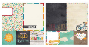 Simple Stories - I Heart Summer Collection - 12 x 12 Double Sided ...