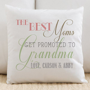 First Time Grandma gift - Personalized pillow reads,
