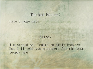 alice in wonderland, mad hatter, quotes