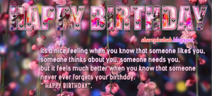 Happy Birthday Quotes For Facebook Wall Wishes