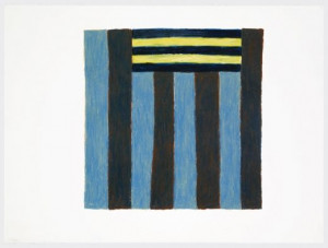 SEAN SCULLY 3 1 83 1983 Oil crayon on paper 22 5 x 30 1 in 57 2 x