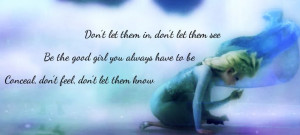 Frozen - Elsa - Lyrics to Let It Go #Disney