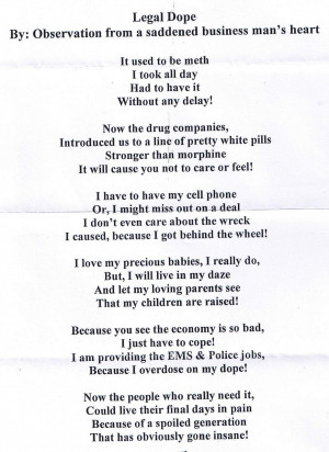 Drug Addiction Poems And Quotes. QuotesGram