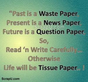 Past Waste Paper Present News