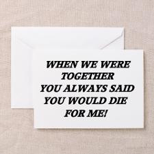 Break Up... Greeting Card for