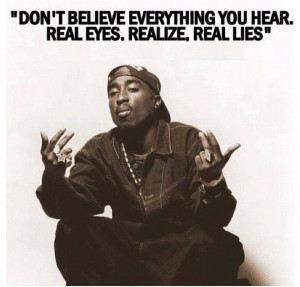 Don't Believe #Everything You Hear