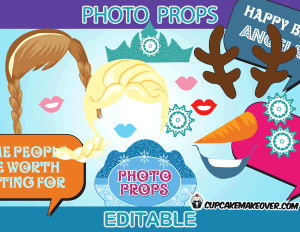 Frozen Photo Booth Props Printable
